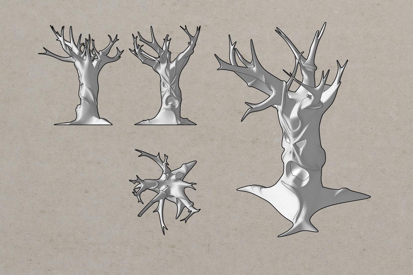 Spooky Tree (SketchUp + Artisan)