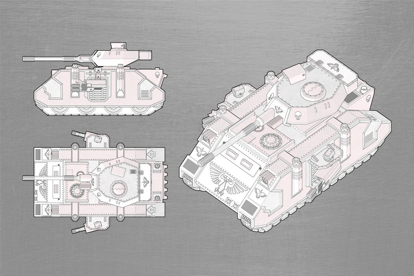 WH40K Predator (SketchUp)