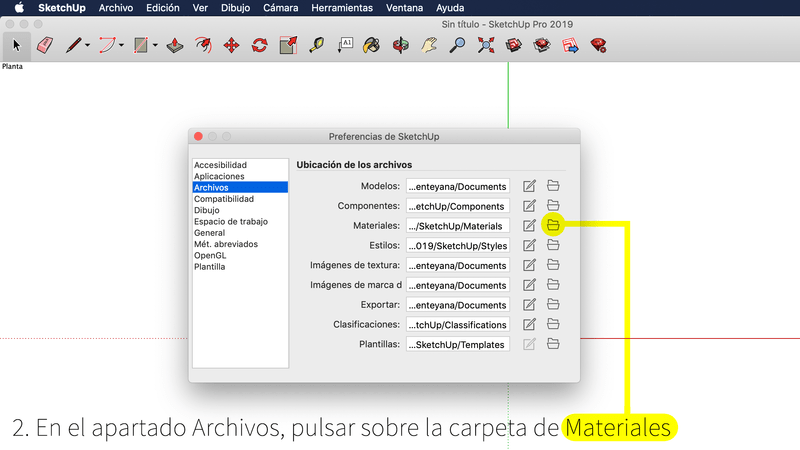Colección de materiales en Mac OSX