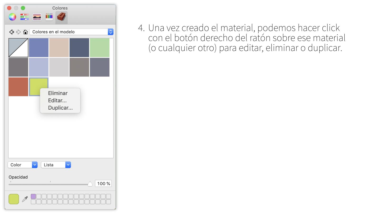 Creación de materiales en Mac OSX