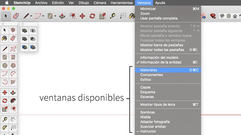 Ventanas flotantes en Sketchup Mac OSX