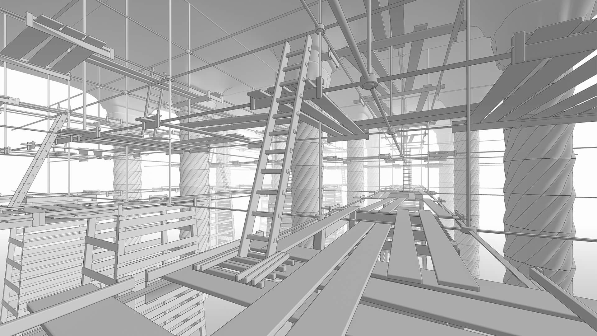 Old Scaffolding, architectural concept · Julio 2020