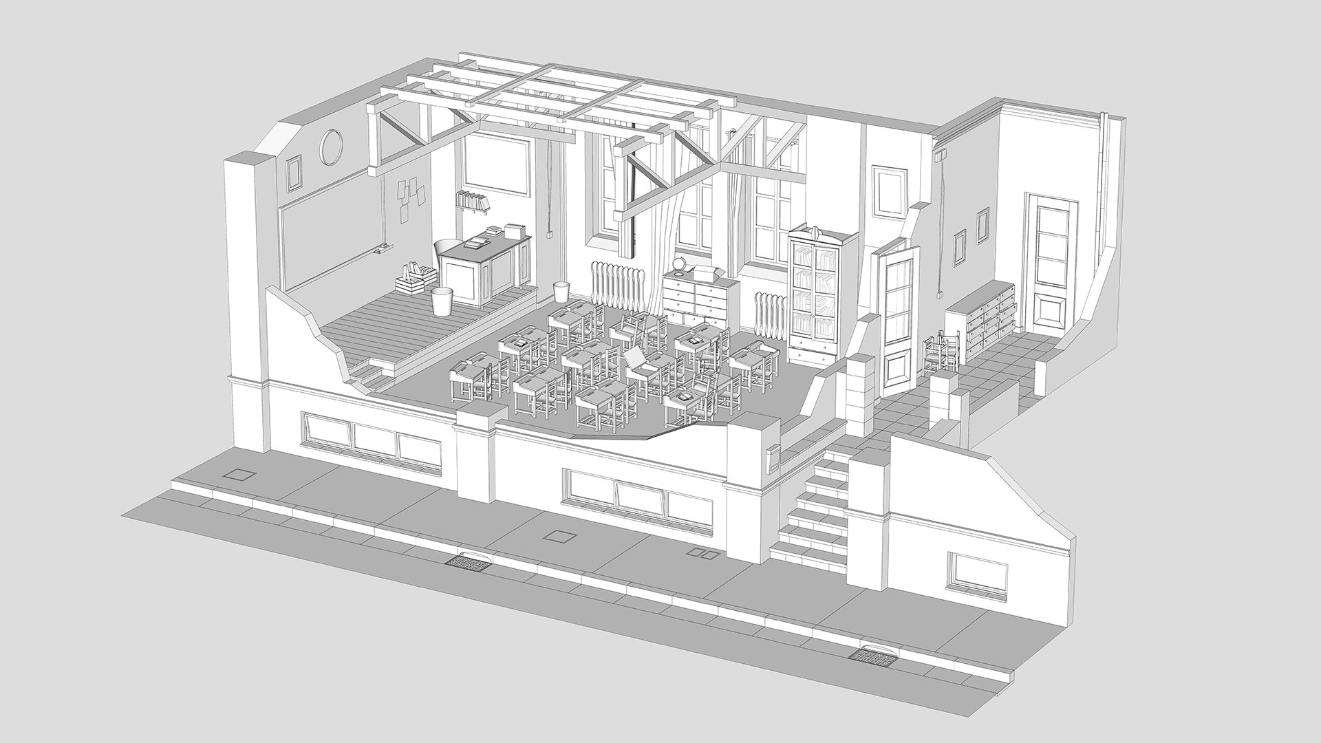 Ye Old Classroom · Modelo 3D